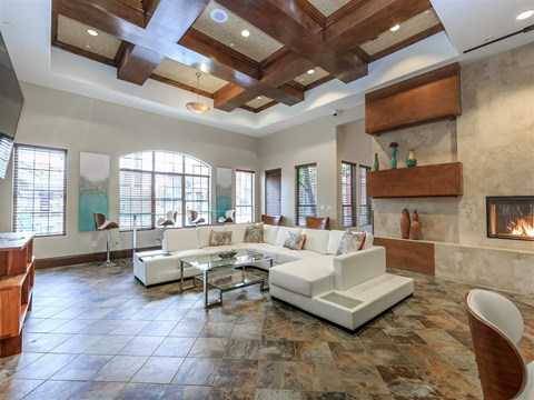 Posh Lounge Area In Montecito Pointe Clubhouse in Las Vegas Apartments for Rent