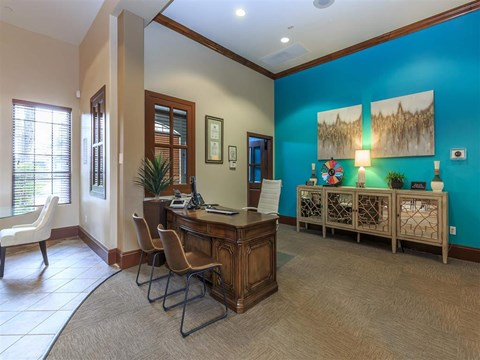Brightly Decorated Montecito Pointe Leasing Office in Las Vegas Apartment Homes for Rent