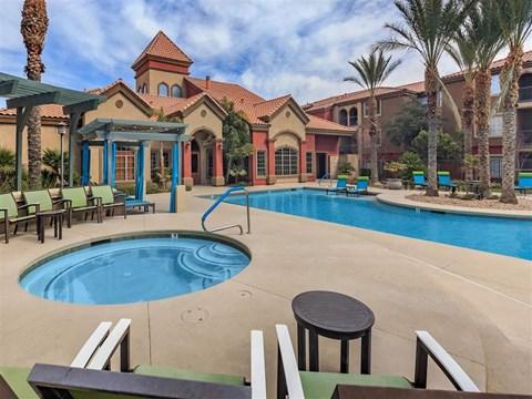 Montecito Pointe Hot Tub And Pool in Las Vegas Rentals