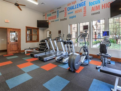 Club-Quality Montecito Pointe Fitness Center in Las Vegas, NV Apartments for Rent