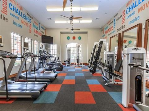 Montecito Pointe Fitness Center With Updated Equipment in Las Vegas, NV Apartment Rentals