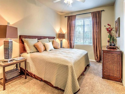 Spacious Montecito Pointe Bedroom With Comfortable Bed in Las Vegas, NV Apartment Rentals for Rent