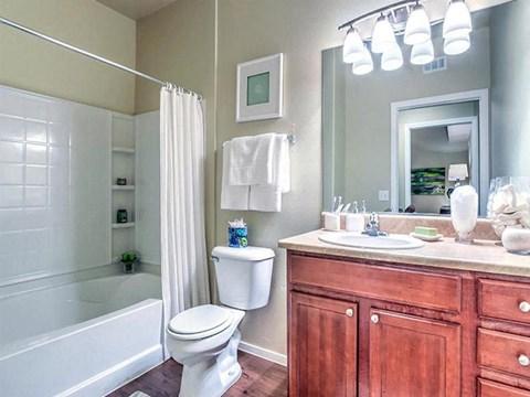 Updated Montecito Pointe Bathrooms in Las Vegas, Nevada Rentals