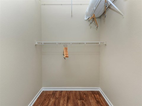 Generous Montecito Pointe Walk-In Closets With Shelving in Las Vegas, Nevada Apartment Rentals for Rent