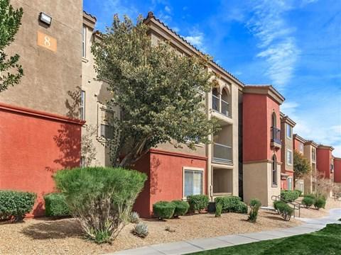 Exquisite Exterior of Montecito Pointe in Las Vegas Rental Homes