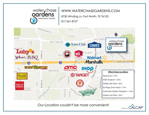 Waterchase Gardens Apartments Area Map