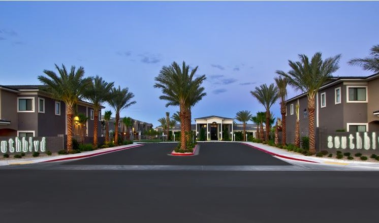 Front Entrance To The Property at South Blvd, Las Vegas