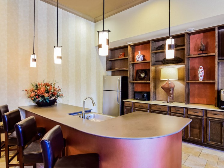 Resident Lounge and Catering Kitchen at Palm Valley, Round Rock, Texas