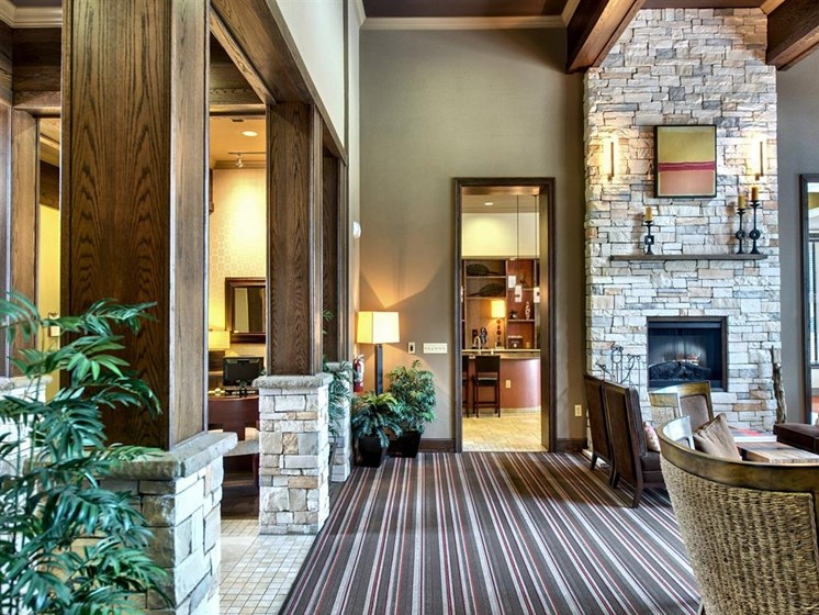 Clubhouse Area at Palm Valley Apartments, Round Rock