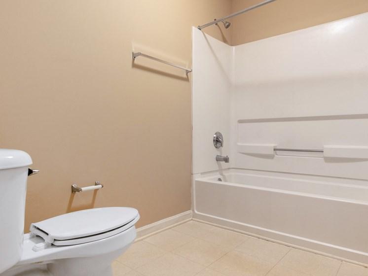 Bathroom With Bathtub at Bay Park Apartments, Bay St. Louis