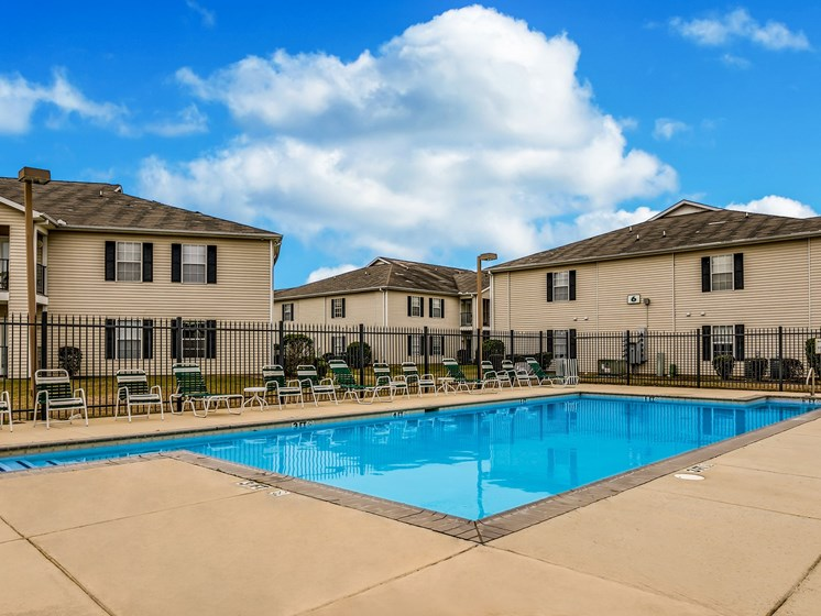 Outdoor Swimming Pool at Bay Park Apartments, Bay St. Louis, Mississippi
