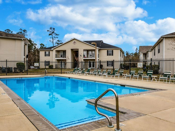 Pool Area at Bay Park Apartments, Bay St. Louis