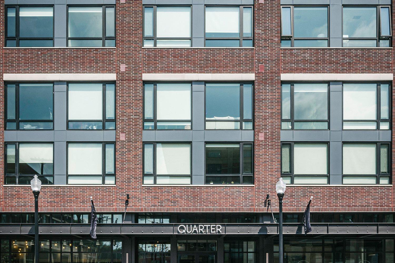 Quarter building entrance on Detroit Avenue