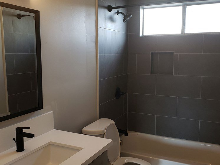 Bathroom With Modern Design and Details at Wilson Apartments in Glendale, CA