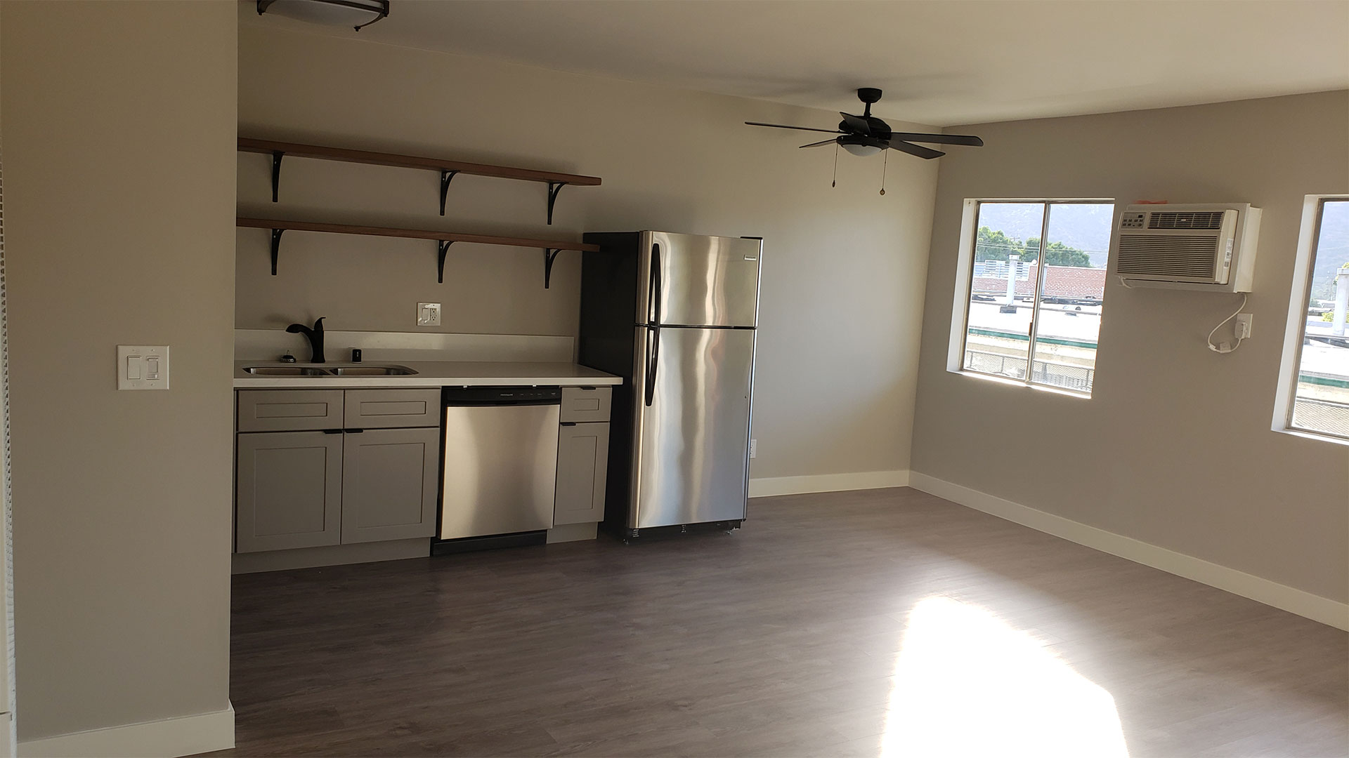 Living and Dining Room Area at Wilson Apartments in Glendale, CA