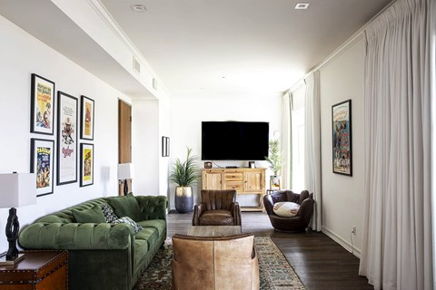 The Goldwyn Apartments In Los Angeles Resident Lounge