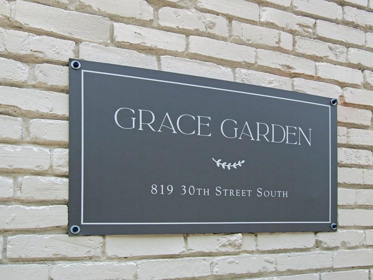 Grace Garden Sign