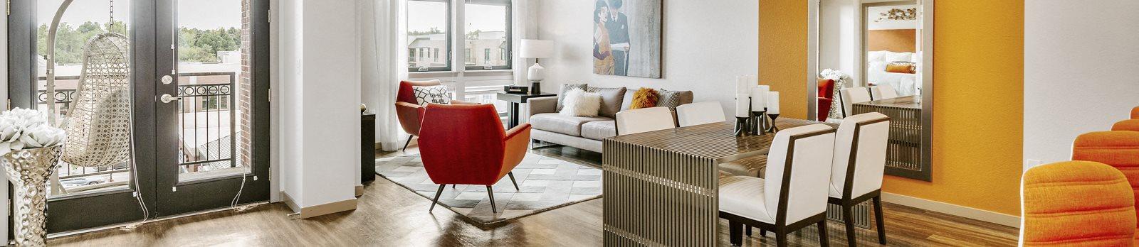 interior of apartment model living room