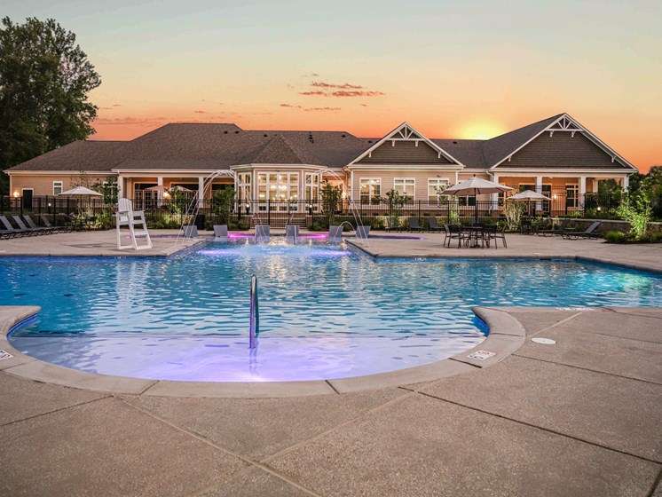 Twilight Pool at Abberly Square Apartment Homes, Waldorf, 20601