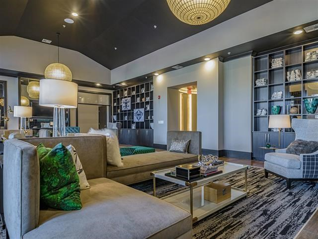 Posh Resident Lounge With Media at Abberly Square Apartment Homes, Waldorf, 20601