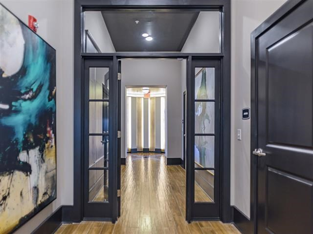 Hallway View at Abberly Square Apartment Homes, Maryland