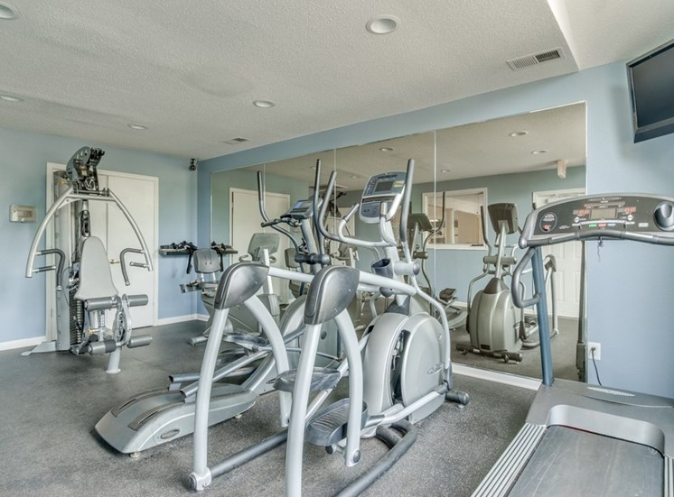 Fitness Center With Equipment at Crestview Apartments, Virginia