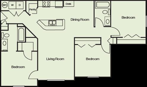 Floor Plans Of Camri Green Apartments In Jacksonville Fl