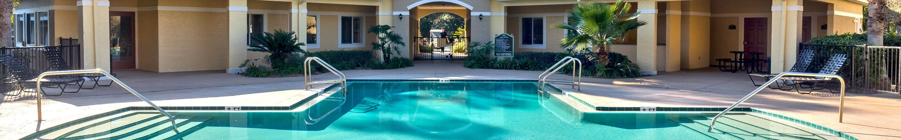 Swimming Pool With Clubhouse View at Holly Cove Apartments, Orange Park, 32073