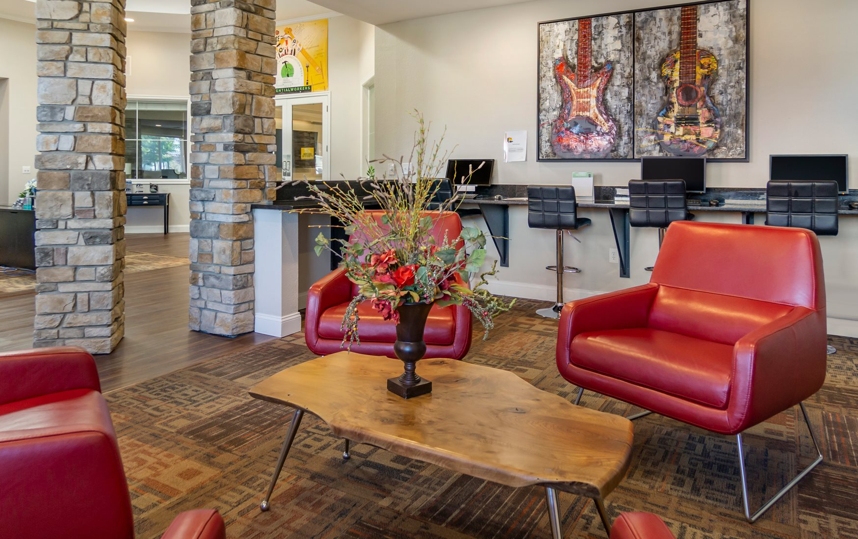 Resident Lounge at The Village at Seeley Lake