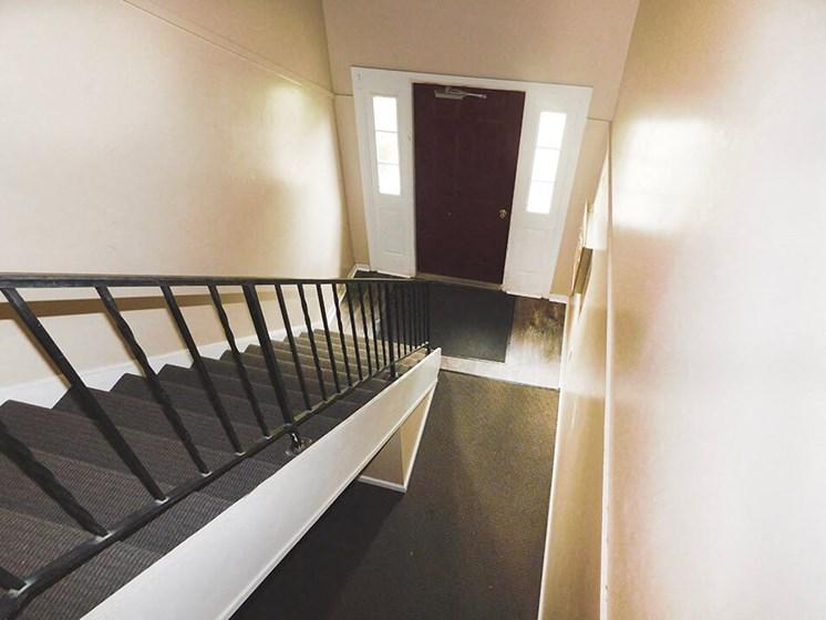 apartment hallway in Kettering, Ohio