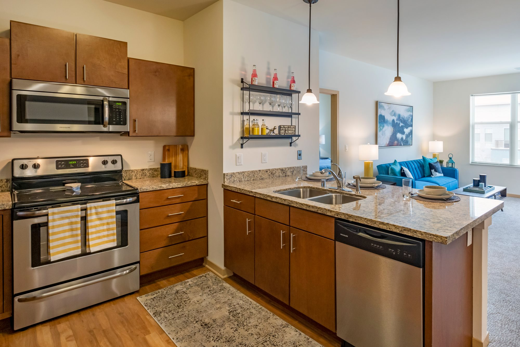 Kitchen at The Enclave Luxury Apartments