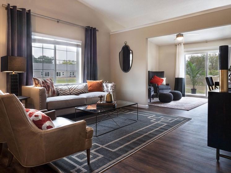Lafayette Indiana  Apartment Rentals Redwood Lafayette Living Room Meadowood