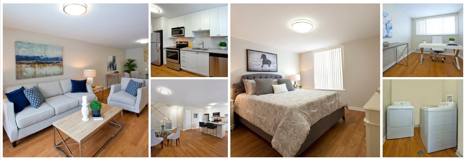 collage of a renovated suite