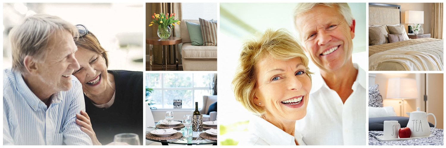 Collage of interior, exterior, and lifestyle images at London Road Apartments in Sarnia, ON