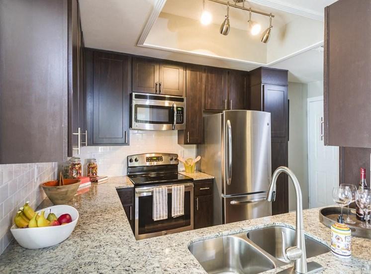 townhome interior kitchen