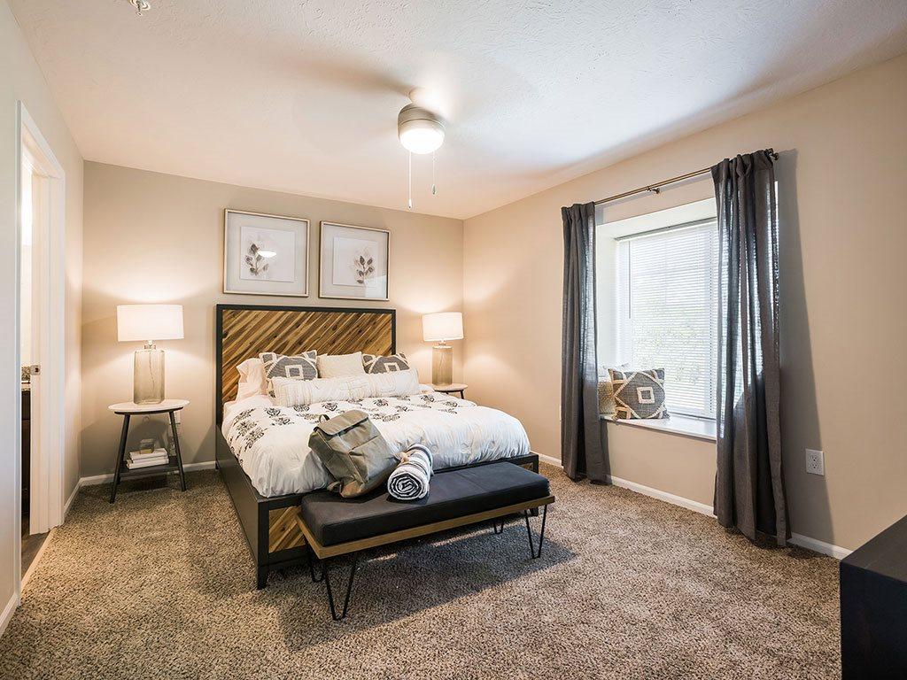 Brownstown Michigan  Apartment Rentals Redwood Brownstown Main Bedroom Telegraph Sibley Road Suite