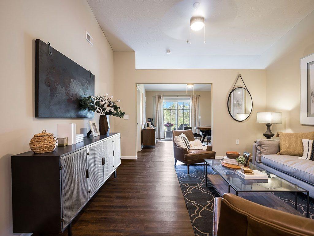 Brownstown Michigan  Apartment Rentals Redwood Brownstown Telegraph Sibley Road Living Room Meadowood