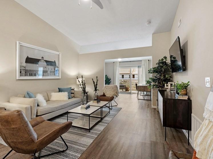 Brownstown Michigan  Apartment Rentals Redwood Brownstown Main Bedroom Telegraph Sibley Road Living Room