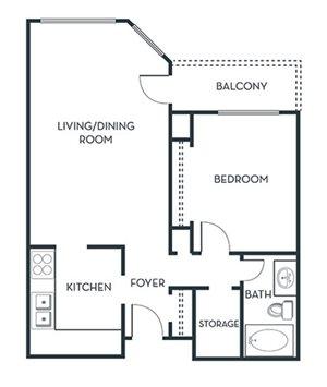 1 BEDROOM (A1) Remodeled