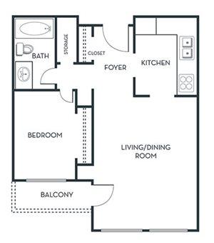 1 BEDROOM (A3) Remodeled