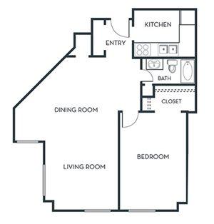 1 BEDROOM (A6) Remodeled