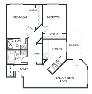 2 BEDROOM (B1)