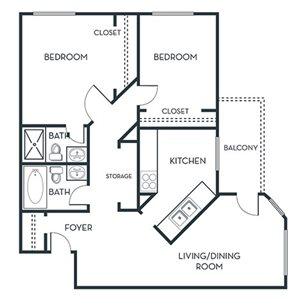 2 BEDROOM (B1) Remodeled