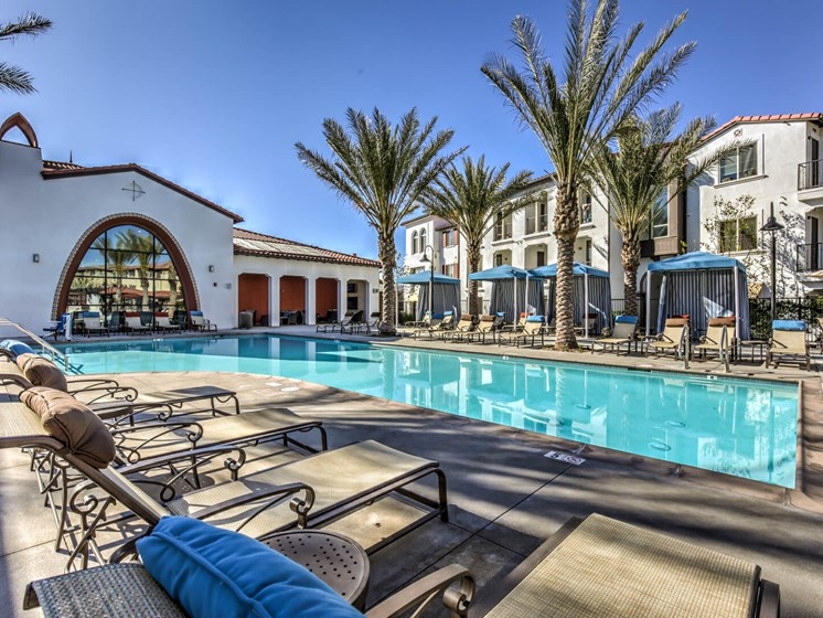 Swimming Pool With Relaxing Sundecks at The Vineyards at Paseo del Sol, California, 92592