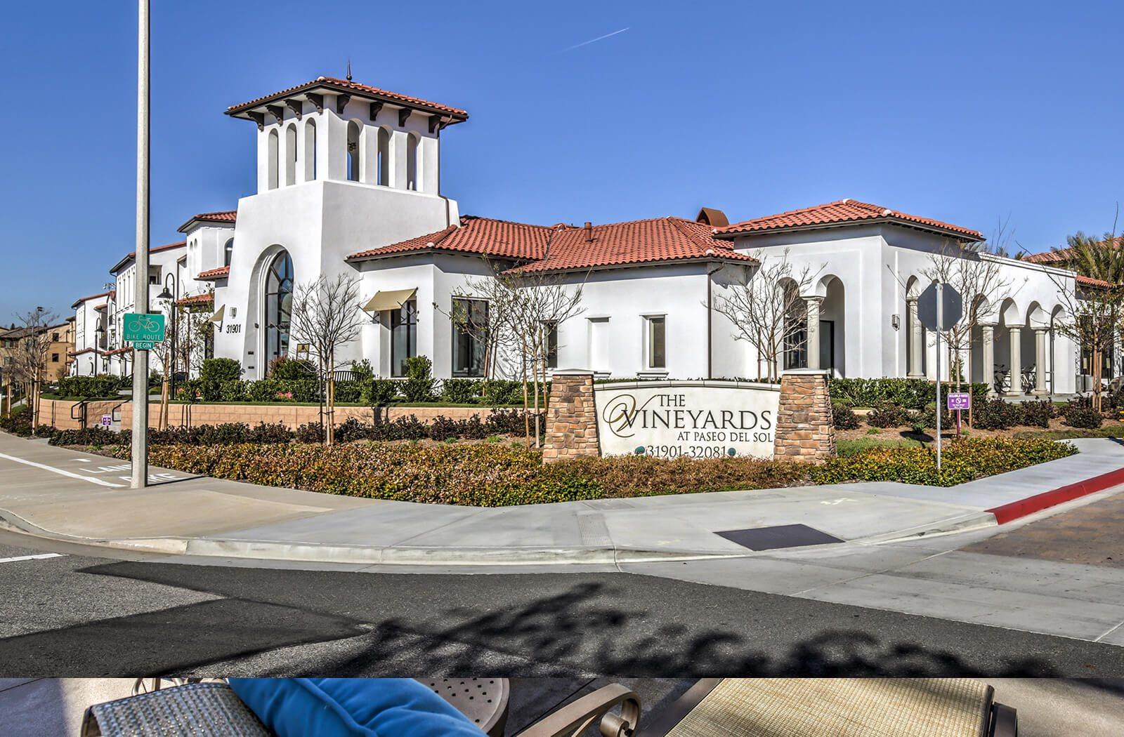 Welcoming Property Signage at The Vineyards at Paseo del Sol, Temecula, CA, 92592