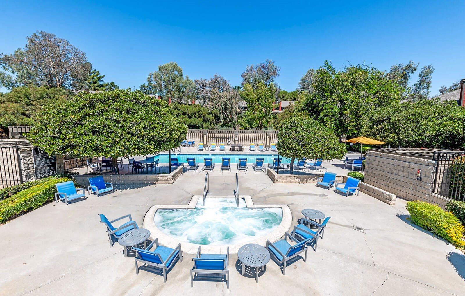 Extensive Resort Inspired Pool Deck at Promenade Terrace, Corona, 92879