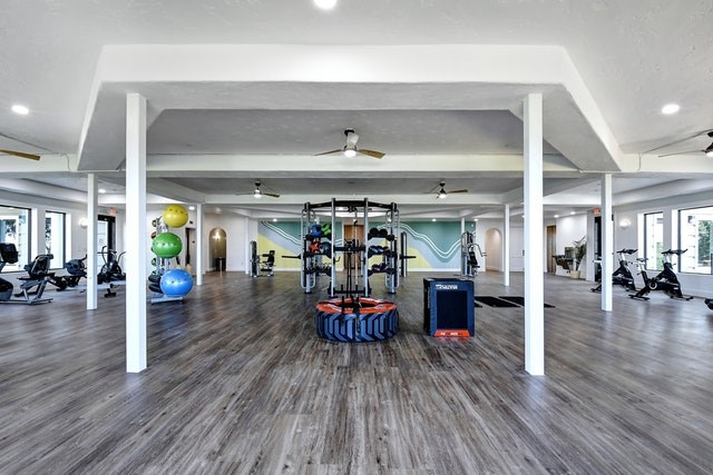 Fitness area at Meritage at Steiner Ranch, Texas
