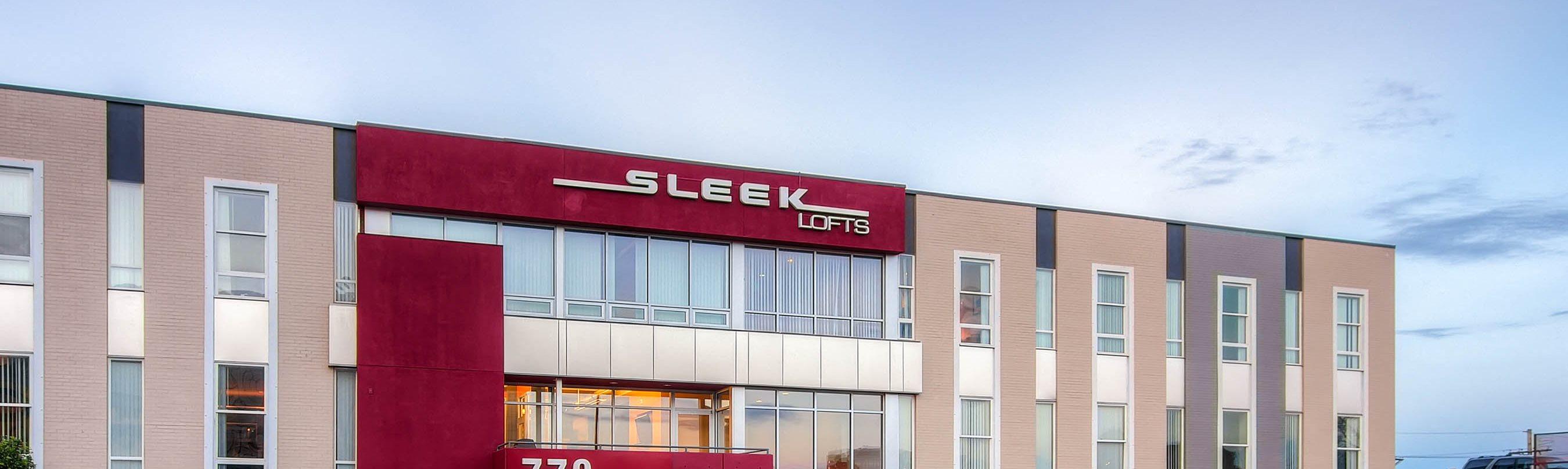 Sleek Lofts Building Exterior