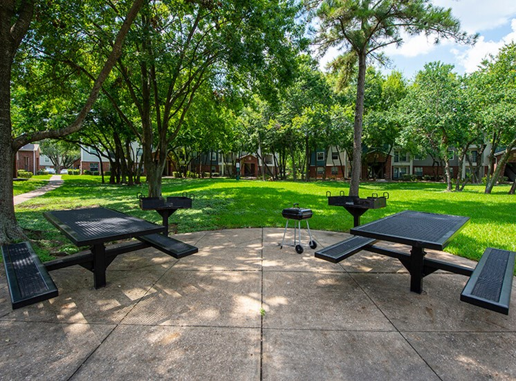 Outdoor Grill With Intimate Seating Area at 8181 Med Center, Houston, TX