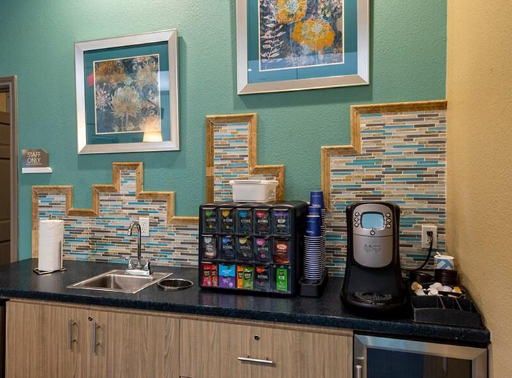 coffee/tea station at 8181 Med Center, Houston, TX